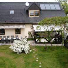 Unser Haus mit 5 Ferienwohnungen am Köthener See