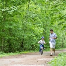 Vater und Kind Urlaub
